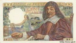 100 Francs DESCARTES FRANCE  1942 F.27.01 SUP+ à SPL