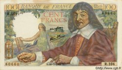 100 Francs DESCARTES FRANCE  1944 F.27.06 SUP+