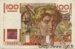 100 Francs JEUNE PAYSAN FRANCE  1946 F.28.07 TTB