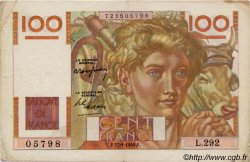 100 Francs JEUNE PAYSAN FRANCE  1949 F.28.21 TTB
