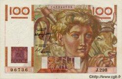 100 Francs JEUNE PAYSAN FRANCE  1949 F.28.22 TTB à SUP