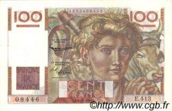 100 Francs JEUNE PAYSAN FRANCE  1951 F.28.30 SPL