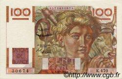 100 Francs JEUNE PAYSAN FRANCE  1952 F.28.33 SPL