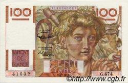 100 Francs JEUNE PAYSAN FRANCE  1952 F.28.33 SUP+