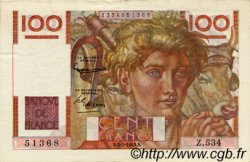 100 Francs JEUNE PAYSAN FRANCE  1953 F.28.36 SUP+
