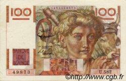 100 Francs JEUNE PAYSAN FRANCE  1954 F.28.41 SUP