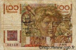 100 Francs JEUNE PAYSAN FRANCE  1954 F.28.43a B
