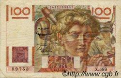 100 Francs JEUNE PAYSAN filigrane inversé FRANCE  1954 F.28bis.05 pr.TTB