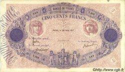 500 Francs BLEU ET ROSE FRANCE  1917 F.30.23 TB+ à TTB
