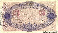 500 Francs BLEU ET ROSE FRANCE  1920 F.30.24 TB+ à TTB