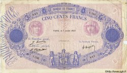 500 Francs BLEU ET ROSE FRANCE  1923 F.30.27 TB