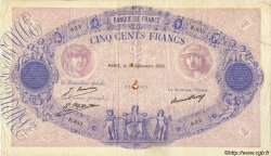 500 Francs BLEU ET ROSE FRANCE  1926 F.30.29 TTB