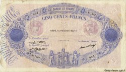 500 Francs BLEU ET ROSE FRANCE  1932 F.30.35 pr.TB