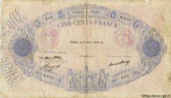 500 Francs BLEU ET ROSE FRANCE  1933 F.30.36 B