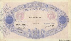 500 Francs BLEU ET ROSE FRANCE  1936 F.30.37 TB à TTB