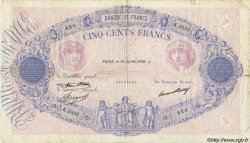 500 Francs BLEU ET ROSE FRANCE  1936 F.30.37 pr.TB
