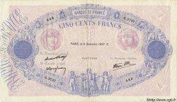 500 Francs BLEU ET ROSE modifié FRANCE  1937 F.31.05 pr.TTB