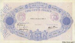 500 Francs BLEU ET ROSE modifié FRANCE  1939 F.31.23 SUP+