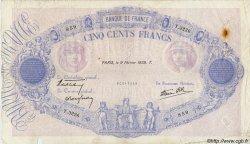 500 Francs BLEU ET ROSE modifié FRANCE  1939 F.31.25 pr.TB