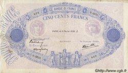 500 Francs BLEU ET ROSE modifié FRANCE  1939 F.31.25 TB+