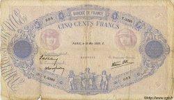 500 Francs BLEU ET ROSE modifié FRANCE  1939 F.31.32 B