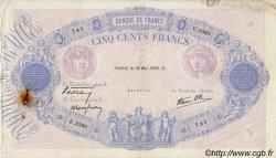 500 Francs BLEU ET ROSE modifié FRANCE  1939 F.31.32 TB+