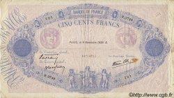 500 Francs BLEU ET ROSE modifié FRANCE  1939 F.31.47 pr.TB