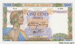 500 Francs LA PAIX FRANCE  1940 F.32.00 SPL