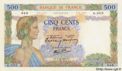 500 Francs LA PAIX FRANCE  1940 F.32.10 pr.NEUF