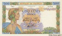500 Francs LA PAIX FRANCE  1940 F.32.11 pr.SUP