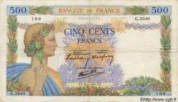500 Francs LA PAIX FRANCE  1941 F.32.13 pr.TTB