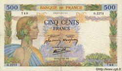 500 Francs LA PAIX FRANCE  1941 F.32.14 TTB