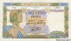 500 Francs LA PAIX FRANCE  1941 F.32.16 pr.SUP
