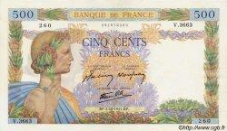 500 Francs LA PAIX FRANCE  1941 F.32.22 SUP+