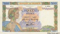 500 Francs LA PAIX FRANCE  1941 F.32.23 TTB