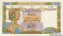 500 Francs LA PAIX FRANCE  1942 F.32.29 SUP+