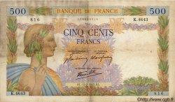 500 Francs LA PAIX FRANCE  1942 F.32.29 B