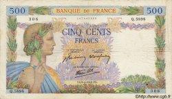 500 Francs LA PAIX FRANCE  1942 F.32.34 TB