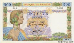 500 Francs LA PAIX FRANCE  1942 F.32.34 SPL