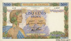 500 Francs LA PAIX FRANCE  1942 F.32.41 TTB