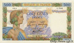 500 Francs LA PAIX FRANCE  1942 F.32.41 SUP+ à SPL