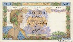 500 Francs LA PAIX FRANCE  1942 F.32.42 SUP