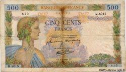 500 Francs LA PAIX FRANCE  1944 F.32.46 B+