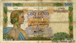 500 Francs LA PAIX FRANCE  1944 F.32.46 B