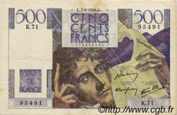 500 Francs CHATEAUBRIAND FRANCE  1945 F.34 TB