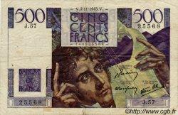 500 Francs CHATEAUBRIAND FRANCE  1945 F.34.03 TB+
