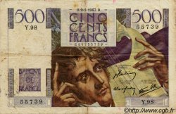 500 Francs CHATEAUBRIAND FRANCE  1947 F.34.07 TB