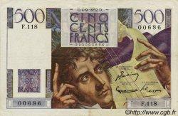500 Francs CHATEAUBRIAND FRANCE  1952 F.34.10 TTB à SUP