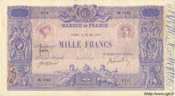 1000 Francs BLEU ET ROSE FRANCE  1917 F.36.31 TTB
