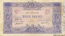 1000 Francs BLEU ET ROSE FRANCE  1920 F.36.35 TB+